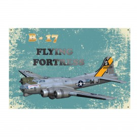 B - 17 Flying Fortress Fémtábla